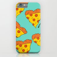 iPhone & iPod Case featuring Pizza Love by Fatimah khayyat