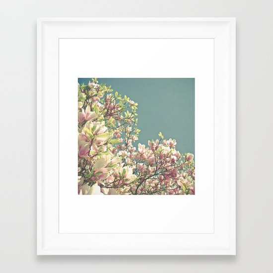 Magnolia in Bloom Framed Art Print