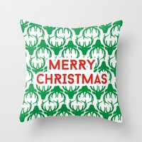 Merry Christmas! Throw Pillow