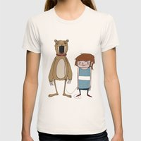 Pet Bear Womens Fitted Tee Natural SMALL
