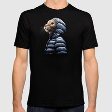 COOL CAT Black SMALL Mens Fitted Tee