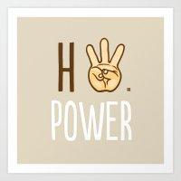 HiiiPower (w/text) : Pale Art Print