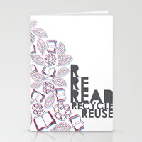 Read, Recycle, Reuse Stationery Cards