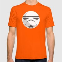 Star Wars IV: A New Hope Mens Fitted Tee Orange SMALL