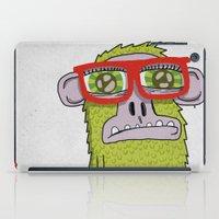 005_monkey glasses iPad Case