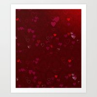Falling Heart Art Print