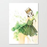 Little Queen Canvas Print