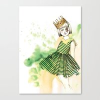 Little Queen Canvas Print