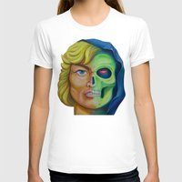 He-man & Skeleton Womens Fitted Tee White SMALL