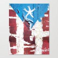 Puerto Rico Flag Canvas Print