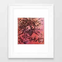 The king of shadows Framed Art Print