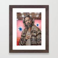 The Dude / The Big Lebowski / Jeff Bridges Framed Art Print