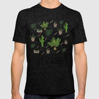 PLANTS ARE MY FRIENDS Mens Fitted Tee Tri-Black SMALL