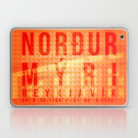 Nordurmyri Orange Laptop & iPad Skin