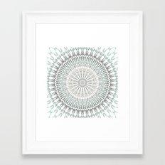 Mint White Mandala Framed Art Print