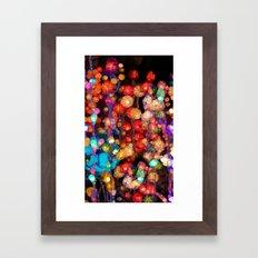 Trippy Floral Framed Art Print
