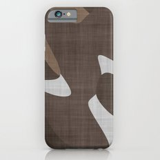Brown and White abstract iPhone 6s Slim Case