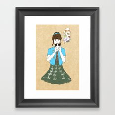 Bank dance #1-1 Framed Art Print