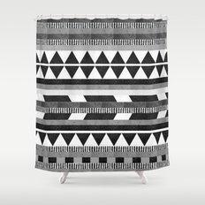 DG Aztec No.1 Monotone Shower Curtain