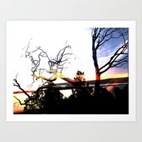 steel trees Art Print