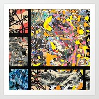 MONDRAIN COMPOSITION POLLOCK Art Print