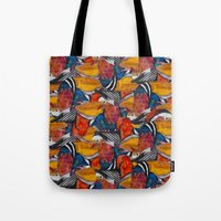 Bird Fight Tote Bag