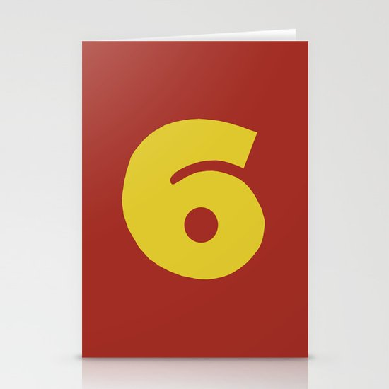 Number 6 Stationery Card