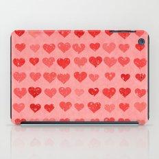 Pink Valentines Love Hearts iPad Case