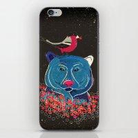 Bullfinch and bear iPhone & iPod Skin