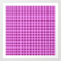 Purple Checkers. Art Print