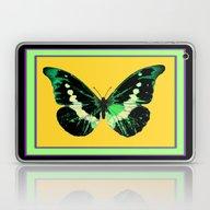 Green Black Butterfly Gr… Laptop & iPad Skin