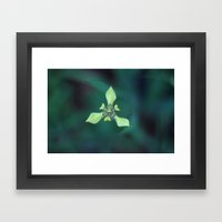 Triangle Flower Framed Art Print