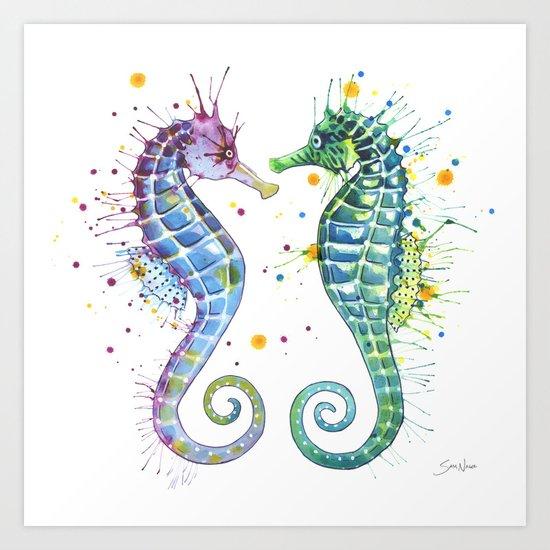Seahorse Art Print By Sam Nagel Society6