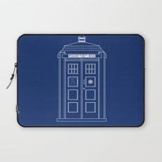 TARDIS Blueprint - Doctor Who Laptop Sleeve