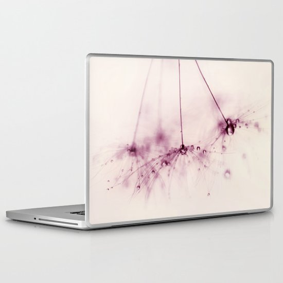 dandelion - pink blush Laptop & iPad Skin