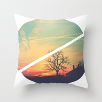 Colored Sky Throw Pillow