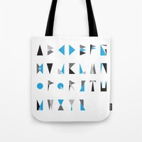 geo type Tote Bag