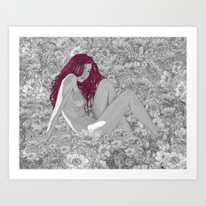 The Red Flower Art Print