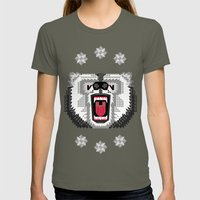 Polar Bear Geometric Womens Fitted Tee Lieutenant SMALL
