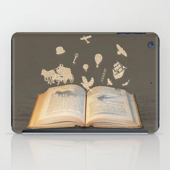 Words Take Flight (on Grey) iPad Case