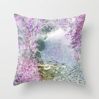 Fantasy woods Throw Pillow