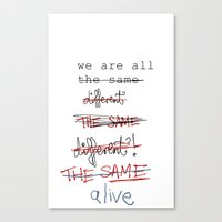 We Are All The Same/diff… Canvas Print