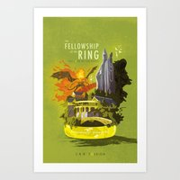 The Fellowship Of The Ri… Art Print