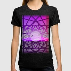 Geometric Sunset Womens Fitted Tee Tri-Black SMALL