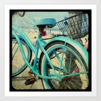 Aqua Bike Art Print