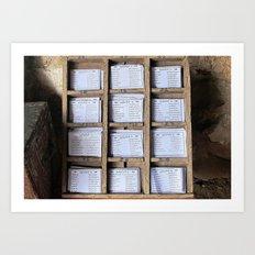 Prayer Cards  Art Print