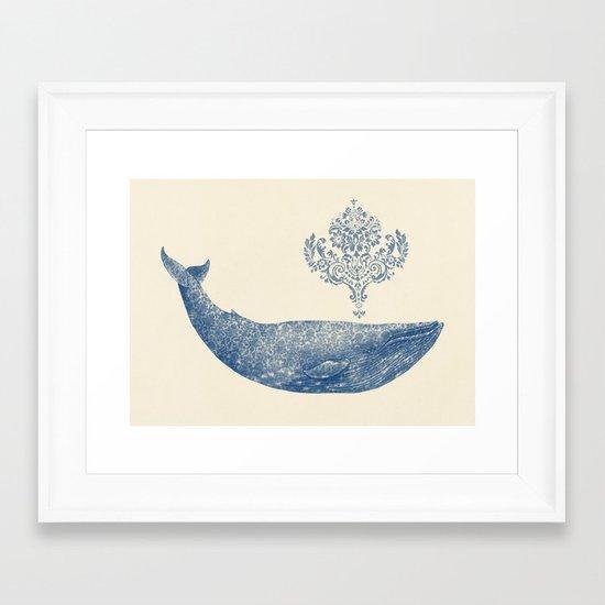 The Damask Whale  Framed Art Print