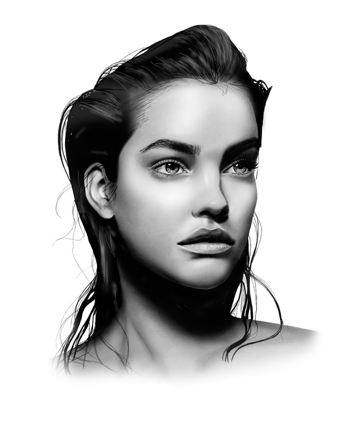 Fashion Illustration - Barbara Palvin Art Print by ...