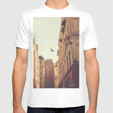 Two Mens Fitted Tee White SMALL