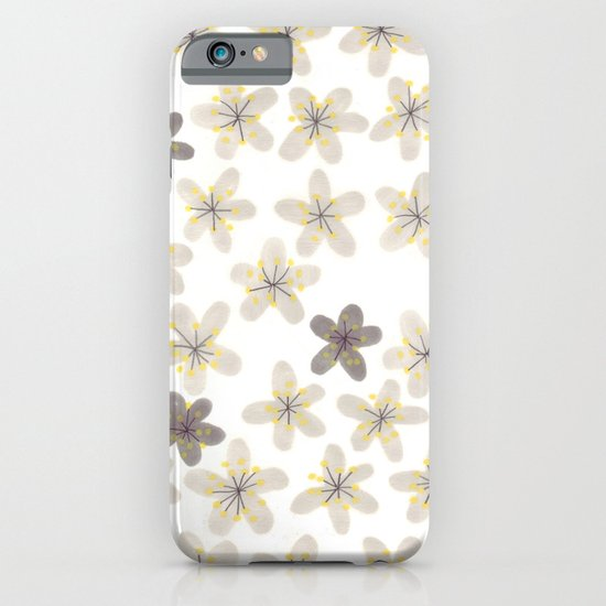 Grey and yellow flowers  iPhone & iPod Case